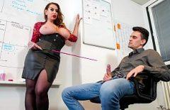 ممارسة الجنس مع المعلم إعطاء بوسها للطالب
