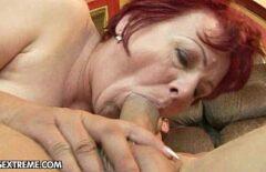 أحمر الشعر يجعل الأفلام الإباحية مع ابنها لطيف
